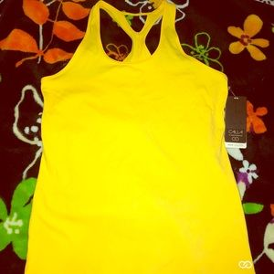 BRAND NEW Calia Fitted Move Tank Top Yellow Sz L
